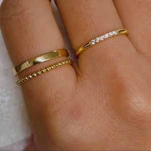 New* Gold Vermeil Rings Size 5/6/7/8